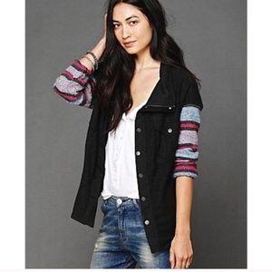 Free People Jackets & Coats - Free People Oversized Stripe sleeve Jacket